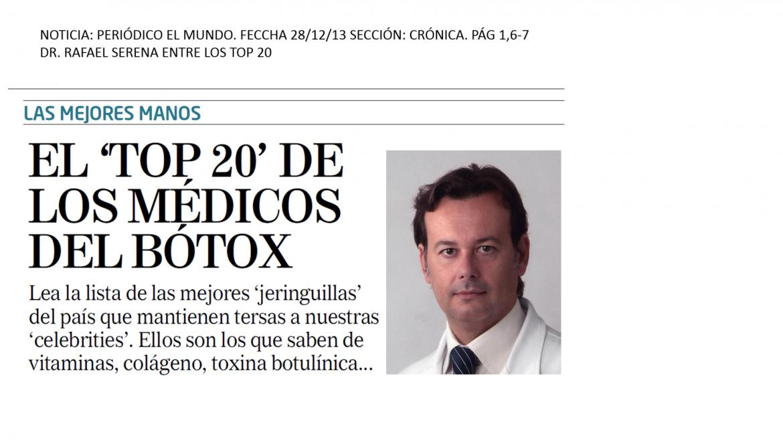 EL TOP 20 DE LOS MÉDICOS DEL BOTOX